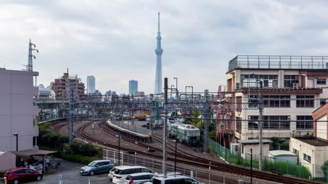 timelapse tokyo city och tokyo sky tree - billboard train station bildbanksvideor och videomaterial från bakom kulisserna