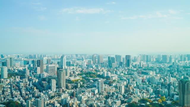 タイムラプス東京市 - 青空点の映像素材/bロール