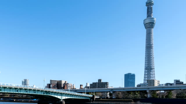 4K Time-Lapse : Tokyo sky tree and Sumida River video