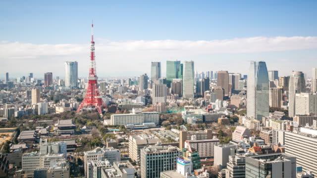 時間速度 : 東京タワー日本の景観 - 東京タワー点の映像素材/bロール