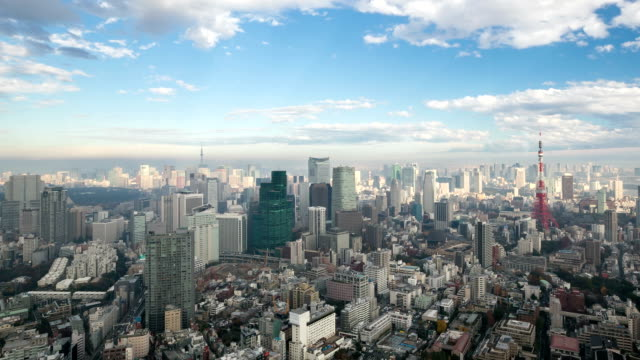 HD :Time -lapse (低速度撮影) 東京タワー日本 ビデオ
