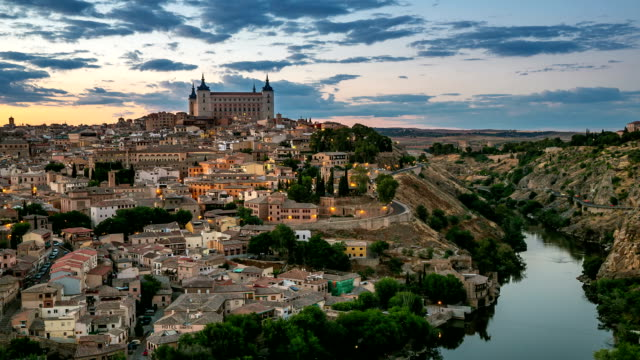 HD Timelapse: Toledo Cityscape at dusk Spain video