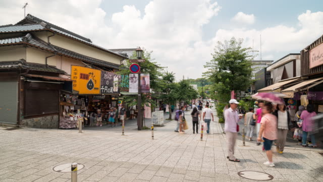 Time-lapse Tourist Crowded at Dazaifu Old town Fukuoka Japan