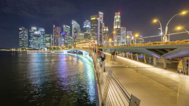 4K time-lapse tourist in Singapore,travel destination video