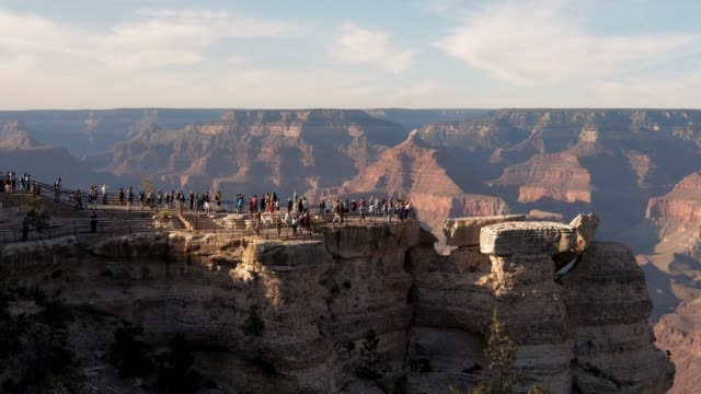 Timelapse Tourists Are On View Point Grand Canyon