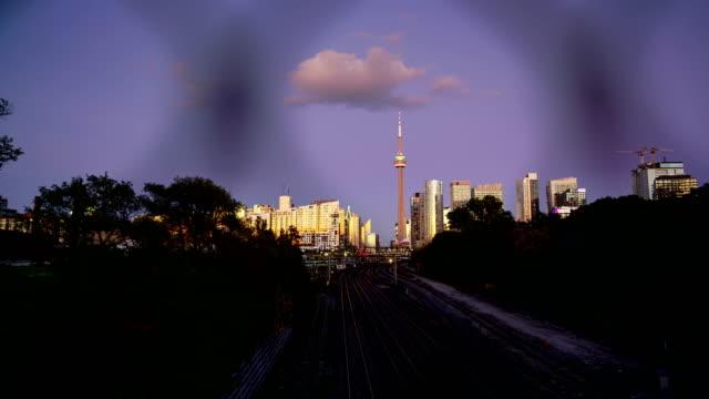 Time-lapse: Traffic at night,Toronto - video