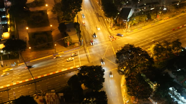 HD Timelapse - traffic in singapore city video