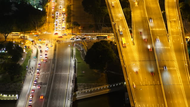 Time-lapse traffic in singapore city video