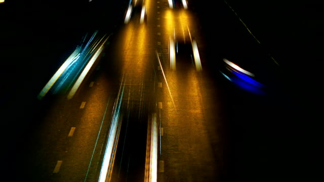 Timelapse traffic, loopable. video
