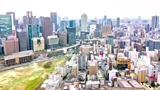 Hd Time Lapse Traffic Street Skyline Osaka Japan Video