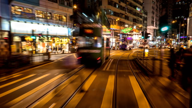 4K Timelapse - Tram PoV of Hong Kong Central video