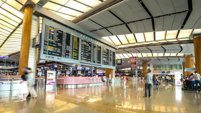4K Time-Lapse: Traveler at Airport Departure Terminal video