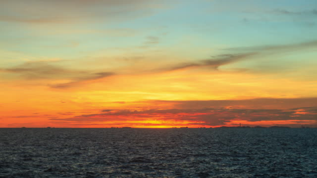 Time-lapse: twilight sky at sea, Thailand video