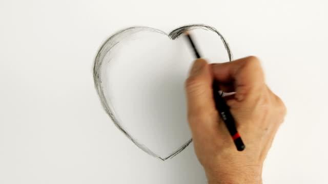 Timelapse valentine heart.    CO RO video