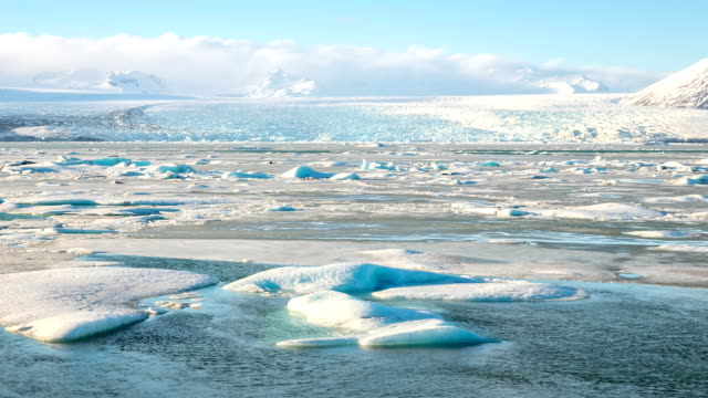 HD time-lapse: Vatnajokull Glacier Jokulsarlon lagoon Iceland video