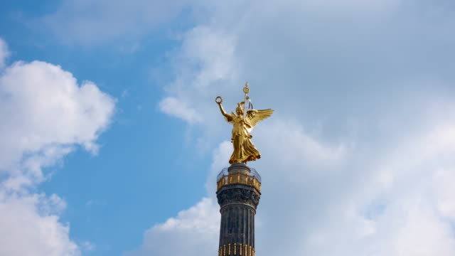 Timelapse Video in 4K of the Berlin Victory Column - Siegessäule video