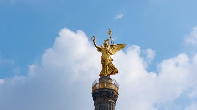 Timelapse Video in 4K resolution zooming in on Berlin's Victory Column - Siegessäule video