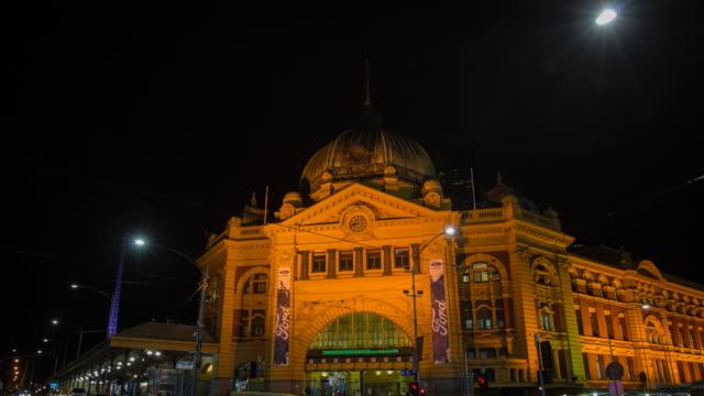 MELBOURNE, AUSTRALIA timelapse video of Flinders street station video
