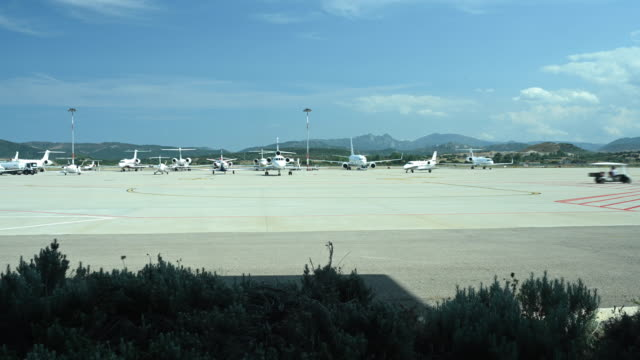 Time-lapse video of some private and commercial aircraft that depart and land in the Olbia airport, Sardinia, Italy.