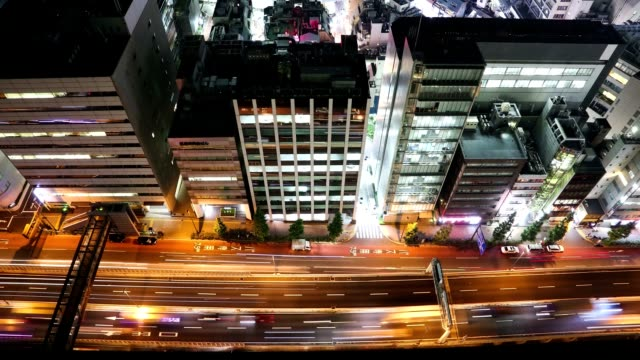 Timelapse Video of Tokyo Street Traffic at Night video