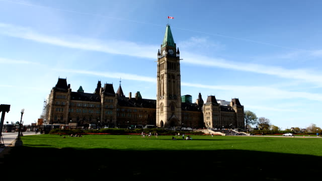 Timelapse view of Canada's Parliament video