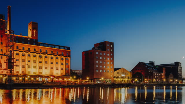 Timelapse view of Duisburg Inner Harbour, Germany