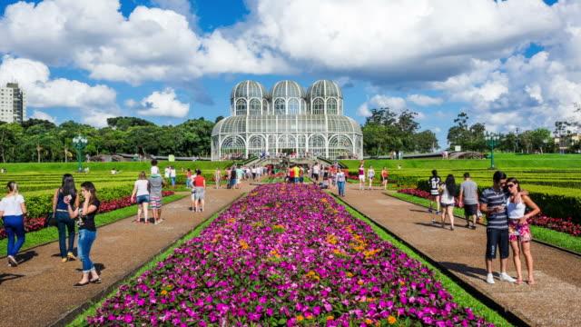 Timelapse View of Jardim Botanico (Botanical Garden) in Curitiba, Parana, Brazil video