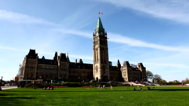 Timelapse view of Parliament in Canada video