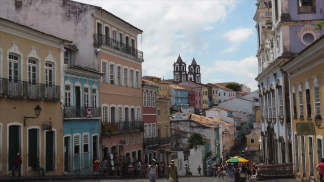 Timelapse View of Pelourinho Historic Centre in Salvador, Bahia, Brazil video