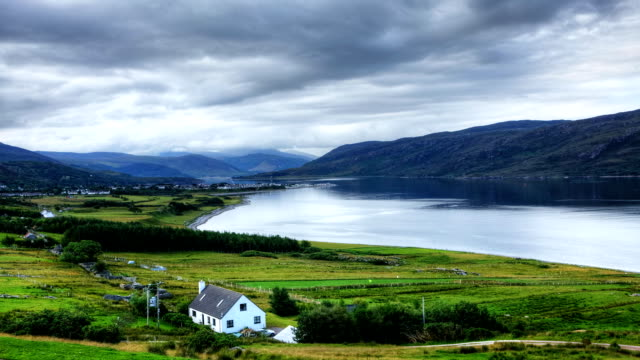 Timelapse view of Ullapool, Scotland A timelapse view of Ullapool, Scotland scotland stock videos & royalty-free footage
