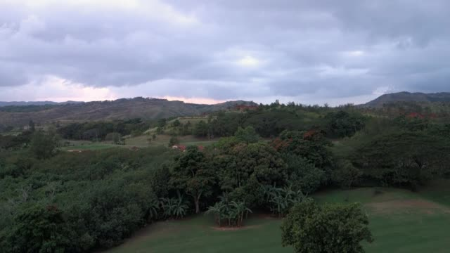 Timelapse View Overcast Skies Over Guam Landscape video