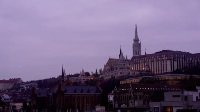 Time-lapse: View to fishermans bastion in Budapest