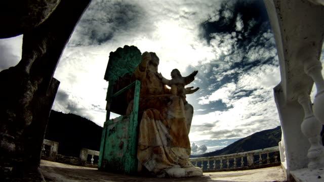 timelapse de la virgen de tingurahua baños ecuador - vídeo