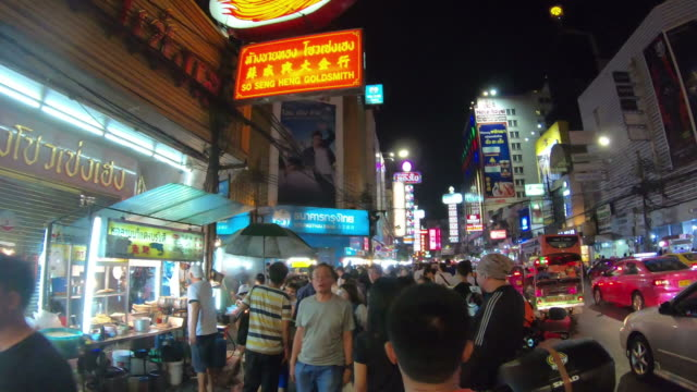 timelapse walking at China Town in thailand