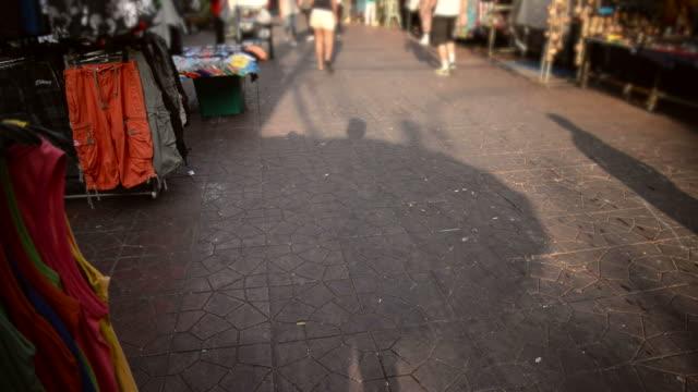 HD time-lapse : walking street , khaosan road , Thailand