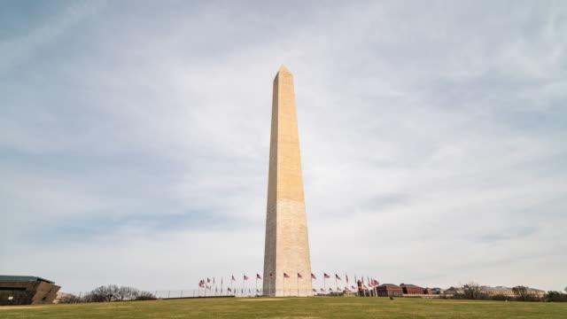 Time-lapse:  Washington Monument  in Washington DC USA