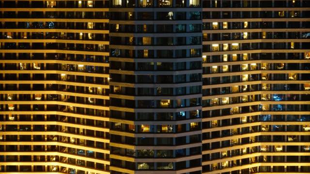 4K Time-lapse window pattern of building