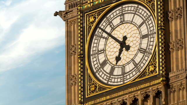 Time-lapse with clouds close up of Big Ben, London video