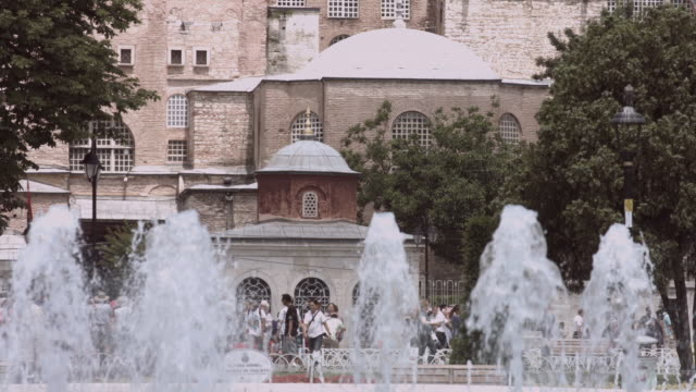 Timelapse with Hagia Sophia Mosque and Museum in Istanbul video
