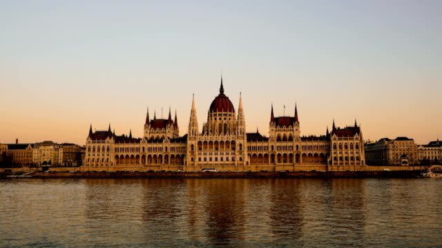 Time-lapse:Budapest, Hungary - Hungarian Parliament Building and Danube River - video
