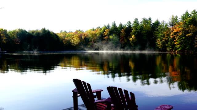 Time-lapse:Cottage Foggy Sunrise - video