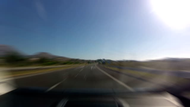 Timelapsed drive over a highway in spain video