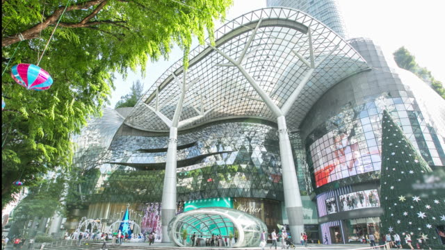 4K Time-lapsed front of ION Orchard shopping mall in Singapore Orchard Road. video
