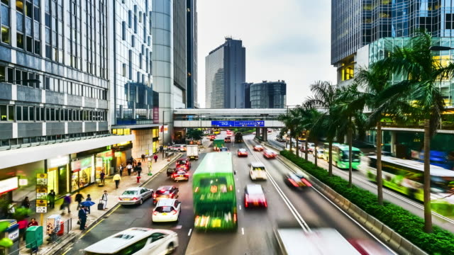 4K Time-Lapse.Hong Kong night video