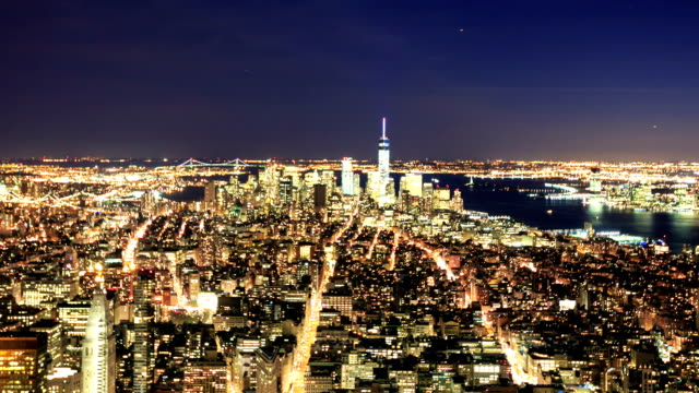 HD Time-lapse:Manhattan to night, New York video