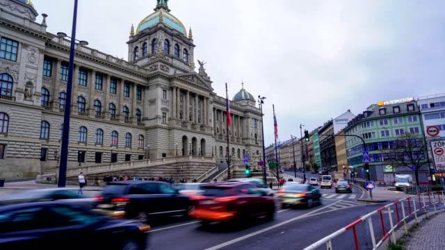 タイムラプス:プラハの交通機関 - チェコ共和国点の映像素材/bロール