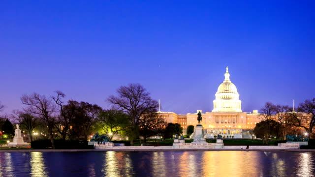 HD Time-lapse:U.S Capitol in Washington DC video