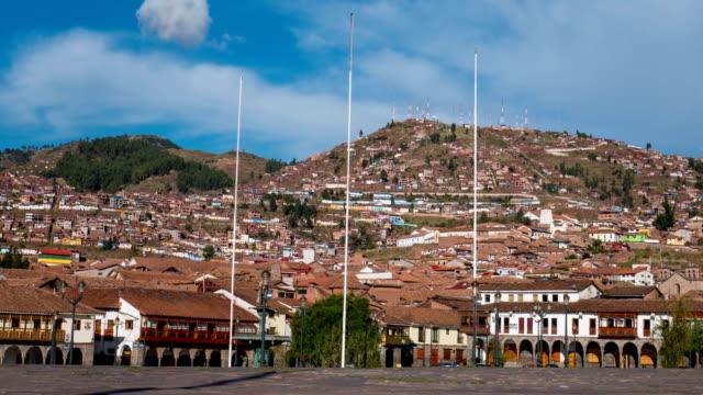 Timelaspe of Cusco Main Square in Peru video