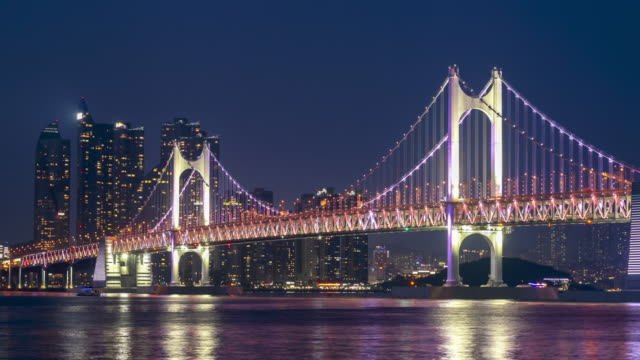 Timelaspe of Gwangan Bridge at Busan City,South Korea video