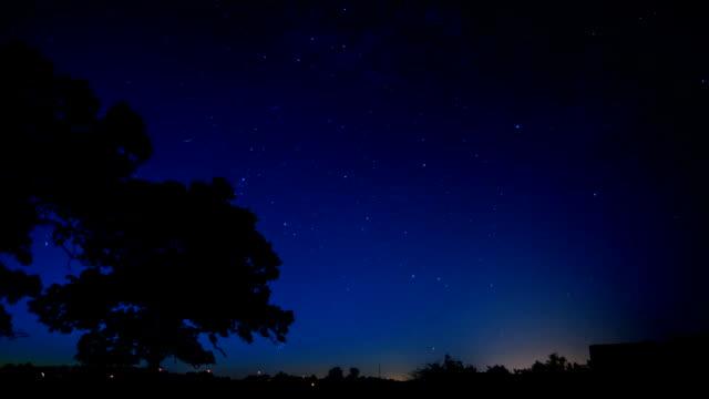 Timelaspe of stars moving over dark sky video